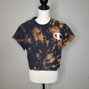 Champion Bleach Dye Crop T Shirt